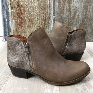 Lucky Brand Blare Side Zip Ankle Booties Sz. 7.5